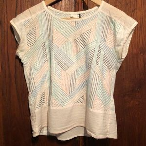 Anthropologie cotton embroidered shirt